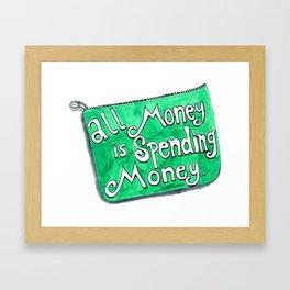 Spending Money Framed Art Print