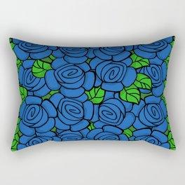 Blue Roses Rectangular Pillow