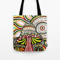 rasta Tote Bags featuring Rasta by Marcela Caraballo