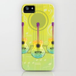Polygonal guitar silhouette iPhone Case