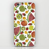 fruits iPhone & iPod Skins featuring fruits by Ana Rey