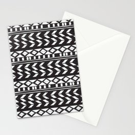 Black & White Pattern Stationery Cards