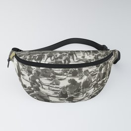 Public Pool Swimming Vintage Photograph Fanny Pack