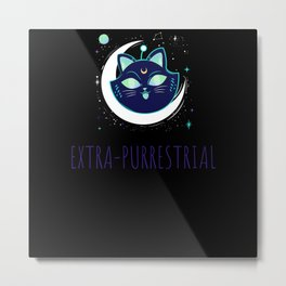 Extra Purrestrial Cat Moms and Dads Gift Metal Print