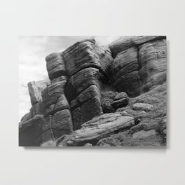 Gritstone Outcrop - West Yorkshire Metal Print