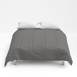 Pantone Pewter Gray 18-5203 Trendy Earth Tone Solid Color Comforters