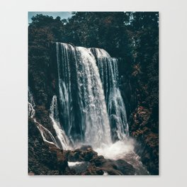 Waterfall Dark  scenary Canvas Print