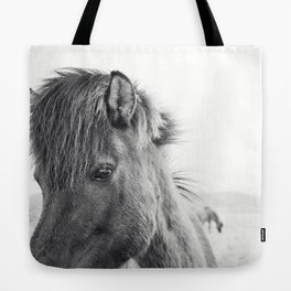 Horse Print   Modern and Black and White Tote Bag