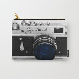 VINTAGE Camera Blue Lens Carry-All Pouch
