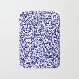 Tiny Spots - White and Dark Blue Bath Mat