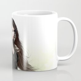 Lady knight - Warrior girl with sword concept art Coffee Mug