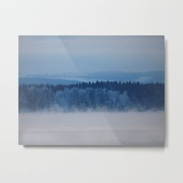 Freezing lake Metal Print