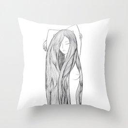 Naked Eva Throw Pillow