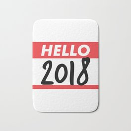 Hello 2018 Bath Mat