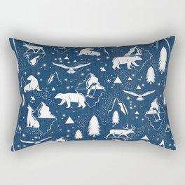 Arctic Circle - Blue Rectangular Pillow