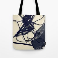 cassette Tote Bags featuring Cassette by Ashli Amabile Designs