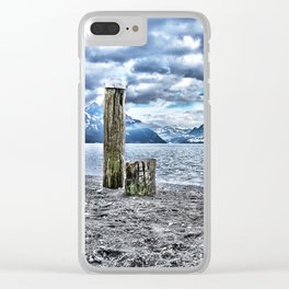 Cloudy day at lake lucerne Clear iPhone Case
