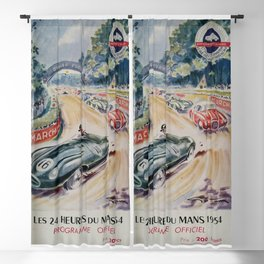 1954 Le Mans poster, Race poster, car poster, programme officiel Blackout Curtain