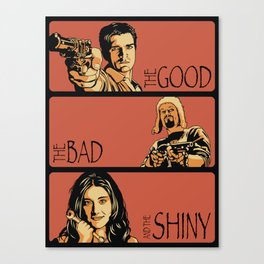 The Good, the Bad, and the Shiny - Firefly Canvas Print