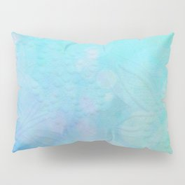 Flowers Bloom in Teal Pillow Sham