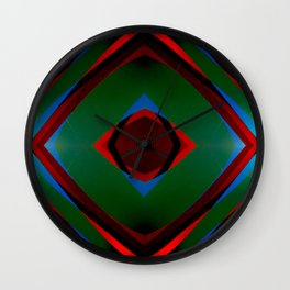 Multi layer abstract art Wall Clock