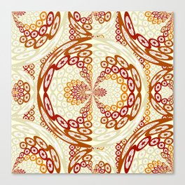 Brown and tan pattern Canvas Print