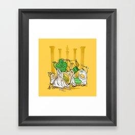 Et Tu, Crouton? Framed Art Print