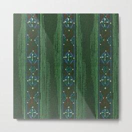 Vintage woodblock print of Japanese textile from Shima-Shima (1904) by Furuya Korin.219 Metal Print
