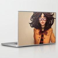 olivia joy Laptop & iPad Skins featuring Olivia by Rafa ArSen