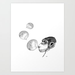 monkey fun Art Print