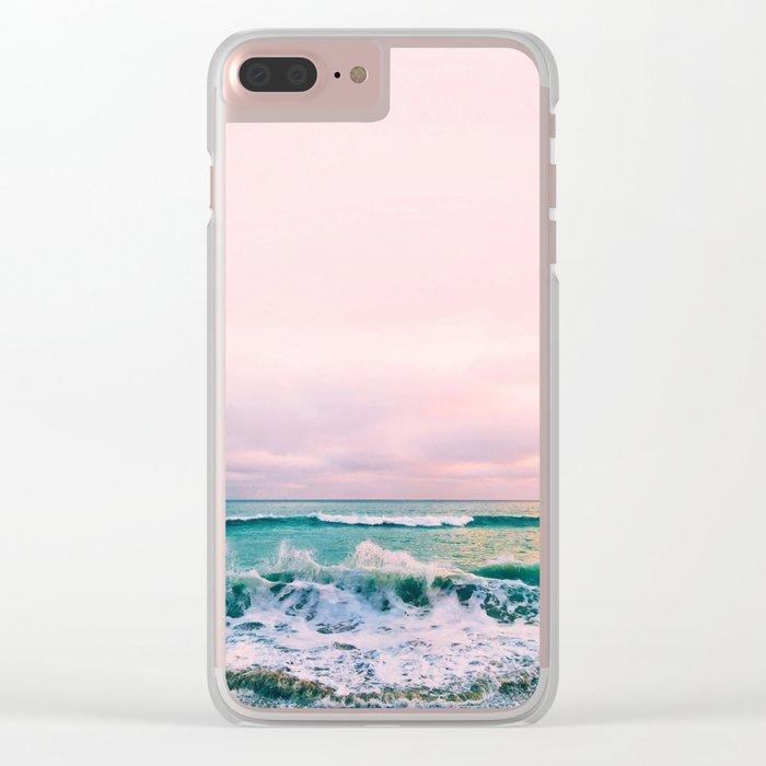 beach sunset photo Clear iPhone Case