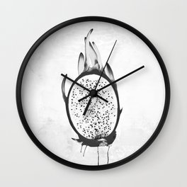 Black and White Dragon Fruit Wall Clock