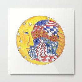 Moon Face Metal Print