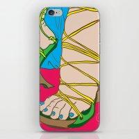 feet iPhone & iPod Skins featuring Feet by Mauro Squiz Daviddi