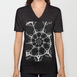 Dark Mandala #3 Unisex V-Neck