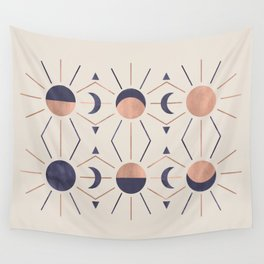 Moon and Light Rosè Version Wall Tapestry