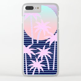 Hello Miami Moonlight Clear iPhone Case