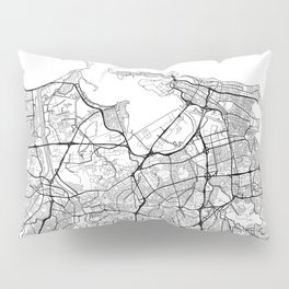 San Juan Map White Pillow Sham