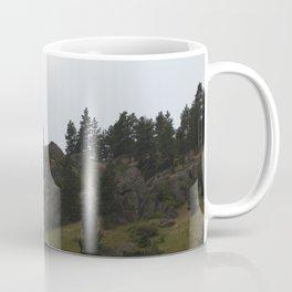 circling eagle on the mountain side Coffee Mug
