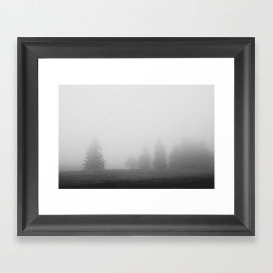 Socked in Framed Art Print
