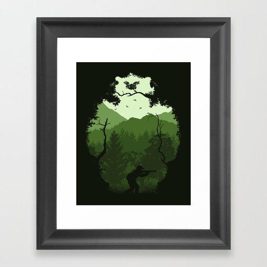 Hunting Season - Green Framed Art Print