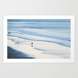 Alone by the sea. Art Print