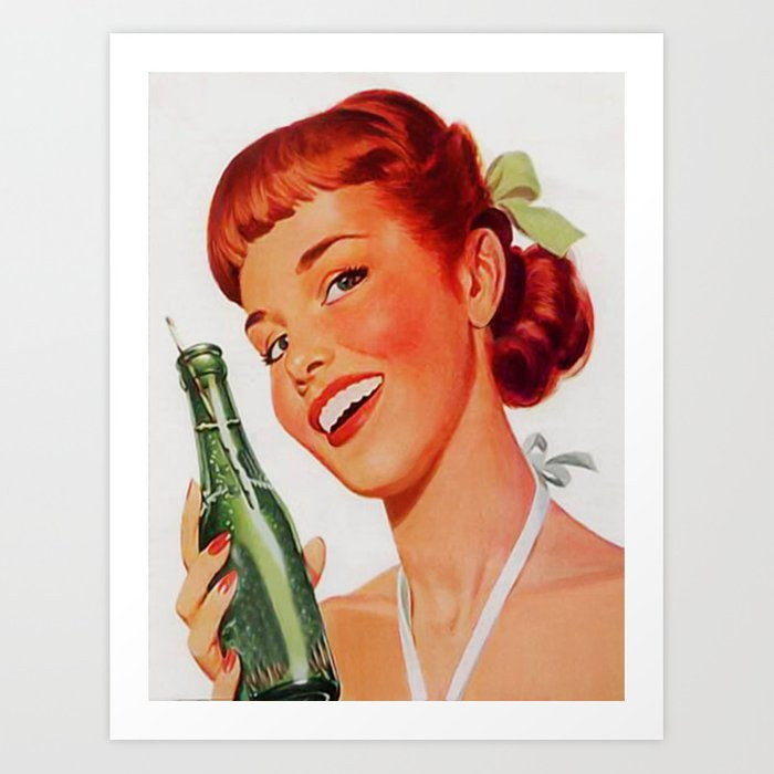 Vintage poster - Soda Ad Art Print by mosfunky