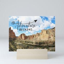 adventure beckons- Smith Rock Oregon Mini Art Print