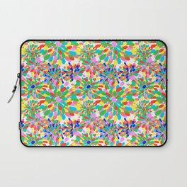 Rainbow Pom Pom Mums in White Laptop Sleeve