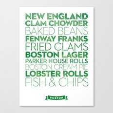 Boston — Delicious City Prints Canvas Print