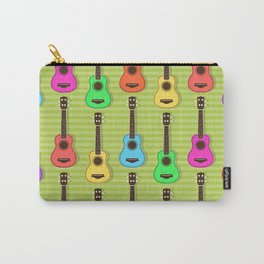 Fun colorful Ukuele Pattern Carry-All Pouch