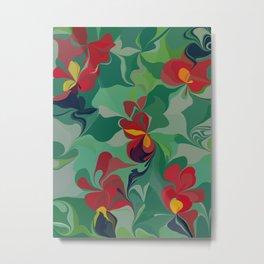 Flowers in the Wind 6 Metal Print