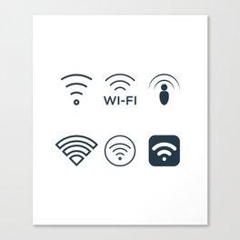 Wifi Signals Canvas Print
