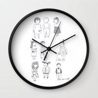 kids Wall Clocks featuring KIDS by Riku Ounaslehto